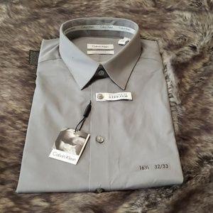 NWT Calvin Klein slim fit mens dress shirt